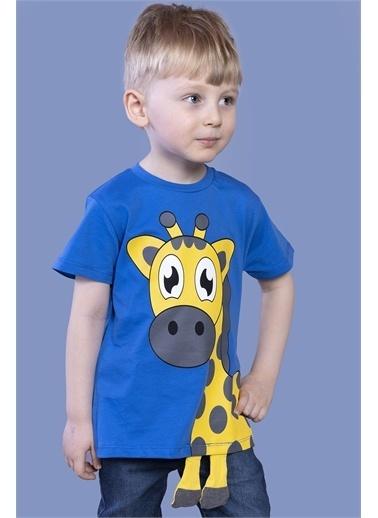 Toontoy Kids Toontoy Erkek Çocuk Zürafa Baskılı Tişört Saks